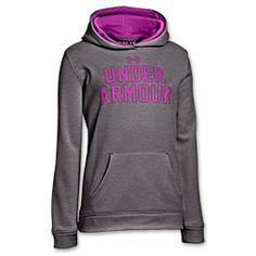 Girls' Under Armour Battle Hoodie  FinishLine.com   Carbon Heather/Strobe