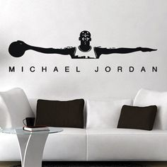 amazon com air jordan michael jordan wall art cute vinyl michael jordan wall decal basketball vinyl sticker art
