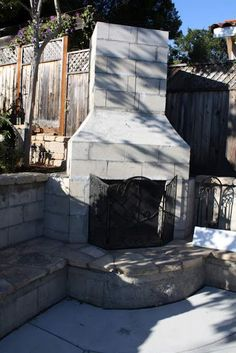 Cinder Block Outdoor Fireplace Plans | A | garden ideas ...