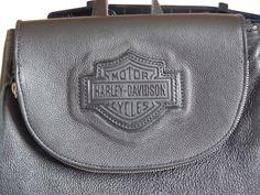 bolsa/mochila harley davidson couro legítimo -original