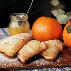 Recipe with video instructions: How to make Sfogliatella. Ingredients: 3 sheets puff pastry (10 centimetersx20 centimeters), 30 grams butter, softened at room temperature, 100 grams cream cheese,...