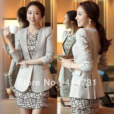 women's medium-long suit ol formal wear pleated jackets coats