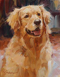 Bauer by Lindsey Bittner Graham Oil ~ 8 x 6