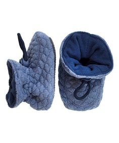 Another great find on #zulily! Blue Soft Waves Booties #zulilyfinds