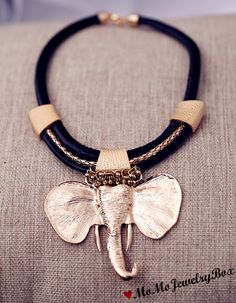 Elephant Necklace , African  necklace, Statement necklace, Choker, Collar necklace