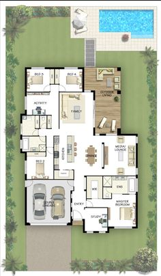 Coral Homes :: Marcoola Series features Perfect floor plan Dream House Plans, House Floor Plans, My Dream Home, Dream Homes, House Blueprints, House Layouts, House Goals, Future House, Building A House