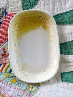 djsdustyattic: How To Clean Corning Ware & Similar Ceramic Bakeware
