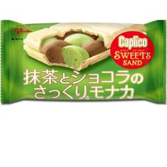 Caplico's trademark fluffly, light and delicious chocolate now in a Matcha flavor! Sweet Sand is a hearty layer of matcha & dark chocolate wrapped in a crispy wafer sandwich. Limited time version for Winter 2013-2014. - See more at: http://oyatsucafe.com/caplico-sweets-sand-matcha#sthash.dszKOn1h.dpuf