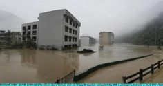 The old town ruins of Beichuan, which was hit by an 8.0-magnitude earthquake in May 2008, is submerged by flood water  in Beichuan, China. Photograph:  ChinaFotoPress/ChinaFotoPress via Getty Images Floods in Sichuan, China, July 2013 Posted by floodlist.com