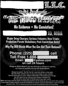 """The """"Thug Lawyer"""" seems like a smart choice."""