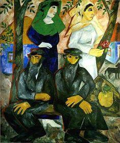 Goncharova, Natalia (1881-1962) - 1912 Jews.The Shabbat.