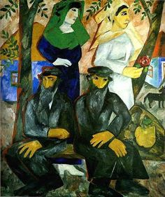 Natalia Goncharova (Russian, 1881-1962)) - Jews.The Shabbat., 1912