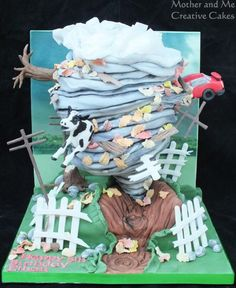 Tornado Cake by Mother and Me Creative Cakes