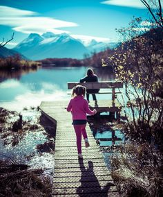 I notice that my youngest daughter Scarlett gets a little extra spunky when she wears pigtails! Here we are out on a family walk in Glenorchy through the wetlands. I highly recommend this walk if you're in the Queenstown area!