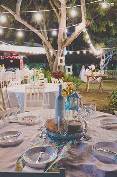 Casamento no campo, com luzinhas e decoração DIY ♥