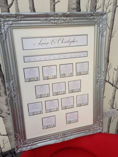 Beautiful Framed Wedding Seating Plan on Etsy, £115.00