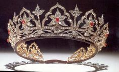 Queen Victoria's Indian Tiara. The original opals were replaced by Queen Alexandra