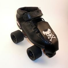 Roller Derby Toe Guards  - Silver Skulls with Pigtails!!! Snarky Brewster approves this item!