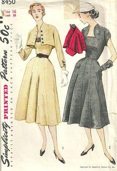 Simplicity 8450 Vintage 50s Sewing Pattern por studioGpatterns, $16.50