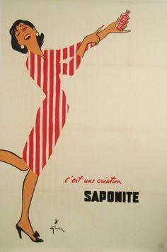 Saponite Pactol original poster by Gruau René