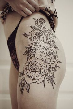 Rose Tattoo - I like the placement