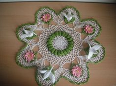 Swan lake crochet doily made to order any colors by marifu6a, $120.00