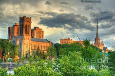 Downtown Minneapolis Skyline Saint Mark's Episcopal Cathedral  Prints available from $17  #FineArt #Architecture #Landscape #Photography #InteriorDesign #CityScape #Office #Home  #Inspiration #Nature