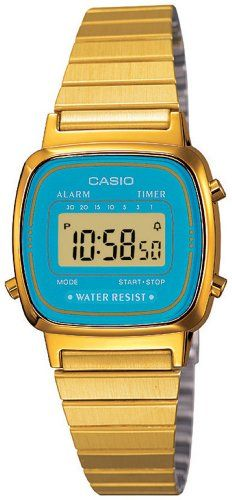 Watch with Digital teal dial casio