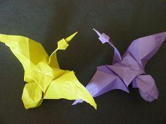 Variation on origami cranes