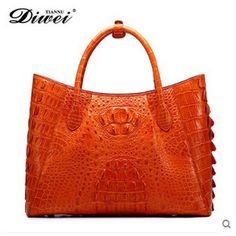(2000.00$)  Watch here  - diwei 2017 new hot free shipping real crocodile skin women handbag large capacity women bag quality goods crocodile bag