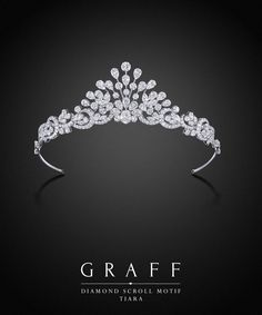 Graff Diamonds: Diamond Scroll Motif Tiara