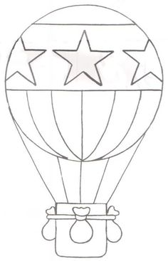 un globo aerosttico hot air balloonballoon templatequillingballoon