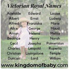Victorian royal baby names - Baby Boy Names Baby Girl Names Baby Boy Names Strong, Unisex Baby Names, Cute Baby Names, Great Names, Baby Girl Names, Unique Names, Popular Baby Boy Names, Royal Baby Boys, Royal Names