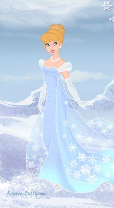 Frozen Cinderella by on DeviantArt Disney Dolls, Disney Art, Disney Pixar, Disney Characters, Disney Bound, Disney Princesses, Frozen Movie, Disney Frozen Elsa, Disney Dragon