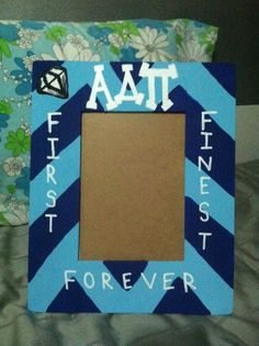 Alpha Delta Pi Sorority Frame ANY SORORITY by getlowlacey on Etsy, $20.00