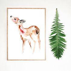 Dreamy Watercolor Designs by Matilda Svensson Beautiful Figure, Beautiful Words, Watercolor Design, Watercolor Illustration, Oh Deer, Limited Edition Prints, Matilda, Giraffe, Whimsical