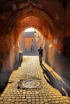 Passage in Marrakesh, Morocco .
