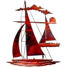 24 inch Catch'n Sail Wall Art, Multicolor
