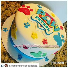 with ・・・ Paw Patrol Cake! Paw Patrol Birthday Cake, 3rd Birthday Cakes, Paw Patrol Party, Birthday Fun, Birthday Ideas, Torta Paw Patrol, Cakes For Boys, Celebration Cakes, Party Cakes