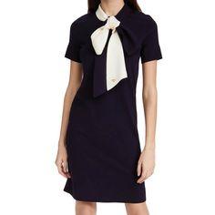 Tory Burch Short Sleeve Bow Sweater Dress