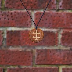The Cross of Lorraine (French Cross)-Handmade Brown Pendant/Necklace. #Handmade #NecklacePendant