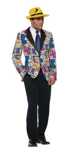 Pop Art Comic Costume Blazer Adult Men - Standard One Size Fits Most 1960s Costumes, Blue Costumes, Funny Costumes, Adult Costumes, Men's Costumes, Pop Art Costume, Comic Costume, Costume Ideas, Wholesale Halloween Costumes