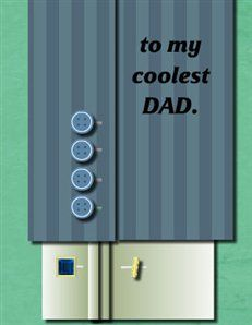 To my coolest dad - Cuff Link Greeting Card