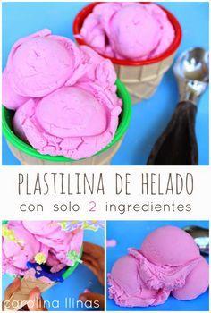 Nuestro Mundo Creativo: Plastilina de helado, con sólo 2 ingredientes Fun Crafts For Kids, Projects For Kids, Art For Kids, Activities For Kids, Diy And Crafts, Sensory Bins, Play Doh, Science For Kids, Diy Doll