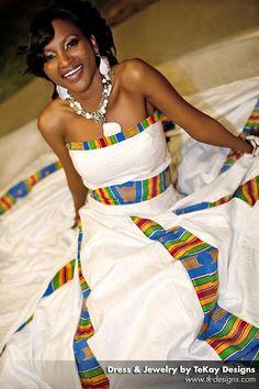 amanda wamunyima wears Tekay Designs ethnic bridal gown