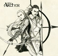"Legolas greenleaf and Bard the bowman by navy-locked.deviantart.com on @deviantART - From ""The Hobbit"""