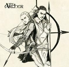 "Legolas greenleaf and Bard the bowman by navy-locked.deviantart.com on @deviantART - From ""The Hobbit"""