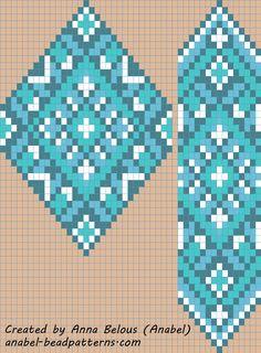 scheme beading gerdan Gaitan weaving patterns (Russian)