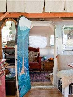Julie's Artist In Residence Modified Airstream Trailer Gypsy Caravan (View #1)
