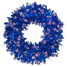 Patriotic Tinsel Wreath at Big Lots.